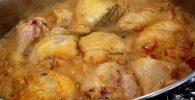 pollo al disco a la mostaza