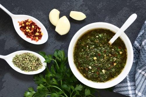 salsa chimichurri verde