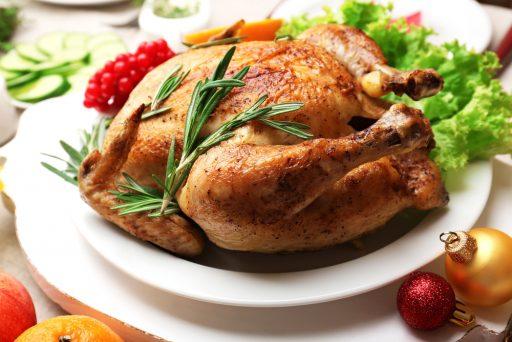 pollo relleno al horno para 6