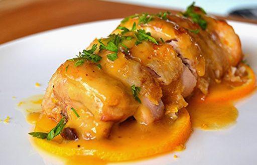 pollo a la naranja en microondas paso a paso