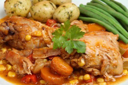 Pollo a la jardinera receta