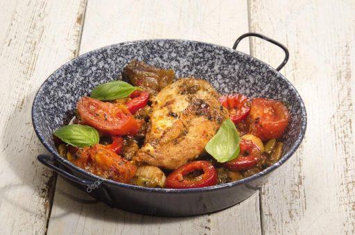 pollo mediterraneo a la parrilla receta
