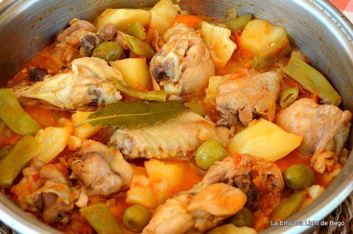 pollo guisado receta