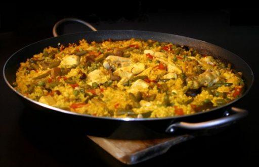 arroz con pollo al disco receta