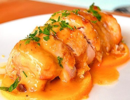 pollo a la naranja al horno receta