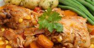 pollo al disco con papas receta