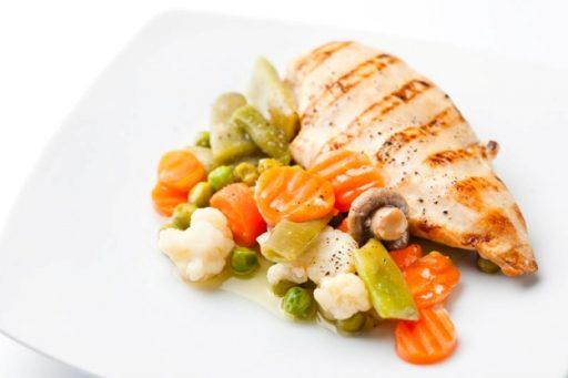 pollo con verduras a la plancha receta