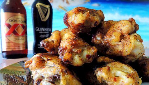 alitas de pollo al ajillo receta
