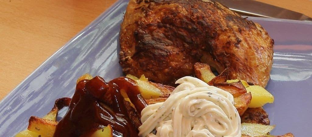 guarniciones pollo al horno