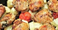 pollo al horno con limon, ajo y tomillo receta original