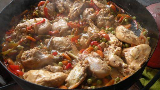pollo al disco
